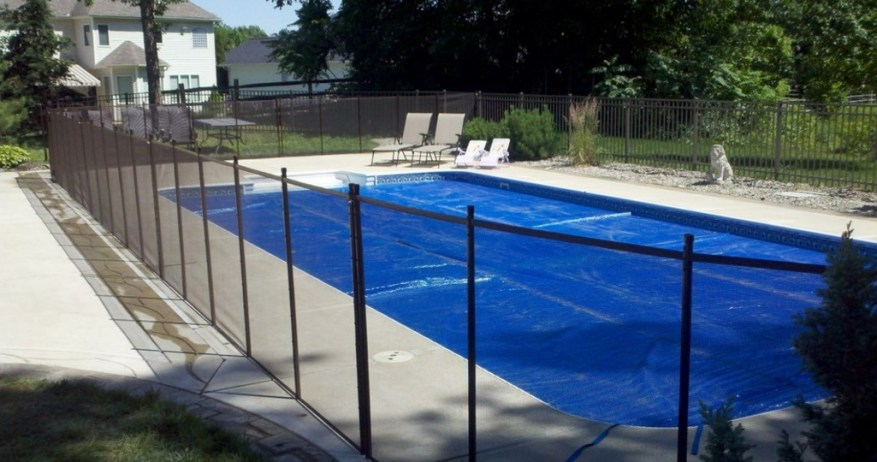 fence cover for pool ideas