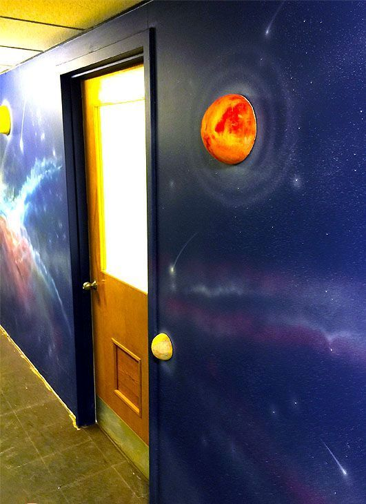 Cartoon Room Space Theme