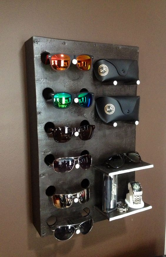 DIY Sunglass Display Case