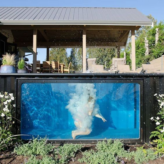 30 Awesome Shipping Container Pool Design & Ideas !
