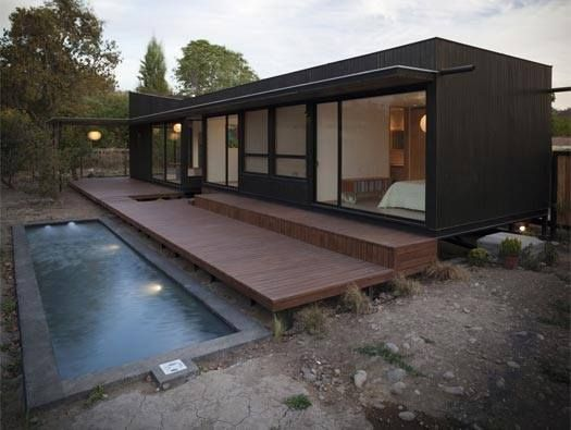 Container House and Pool