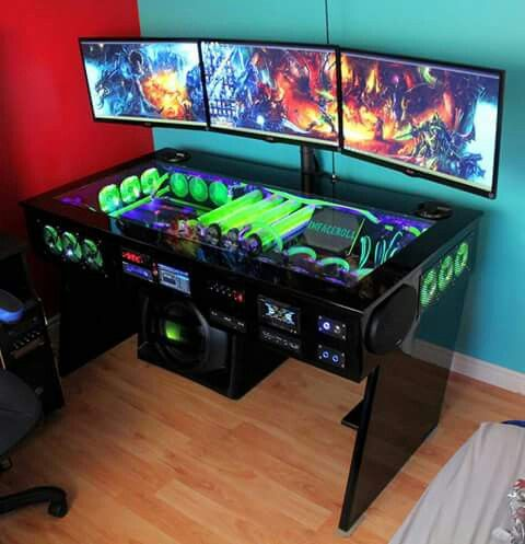 green Gaming Setup Ideas