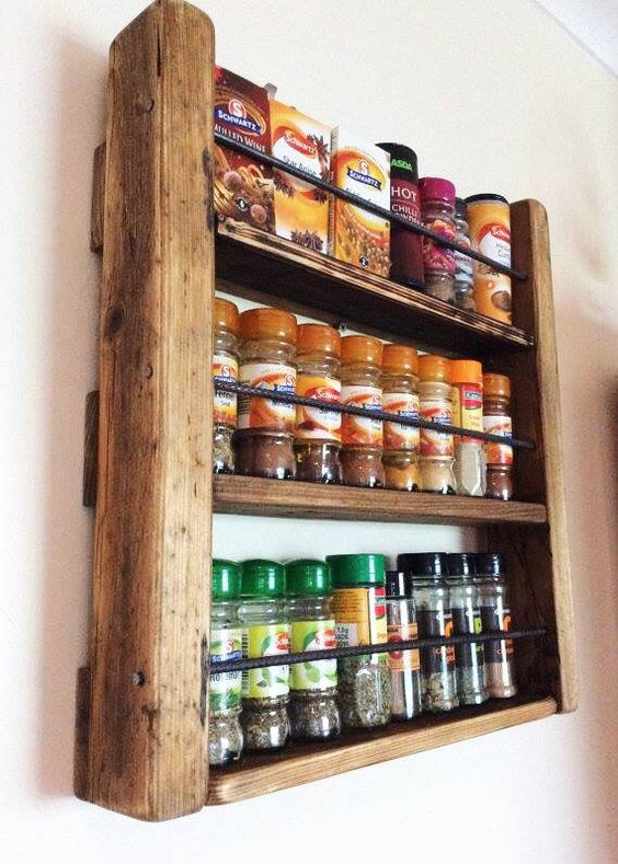 Rustic Spice Rack Ideas
