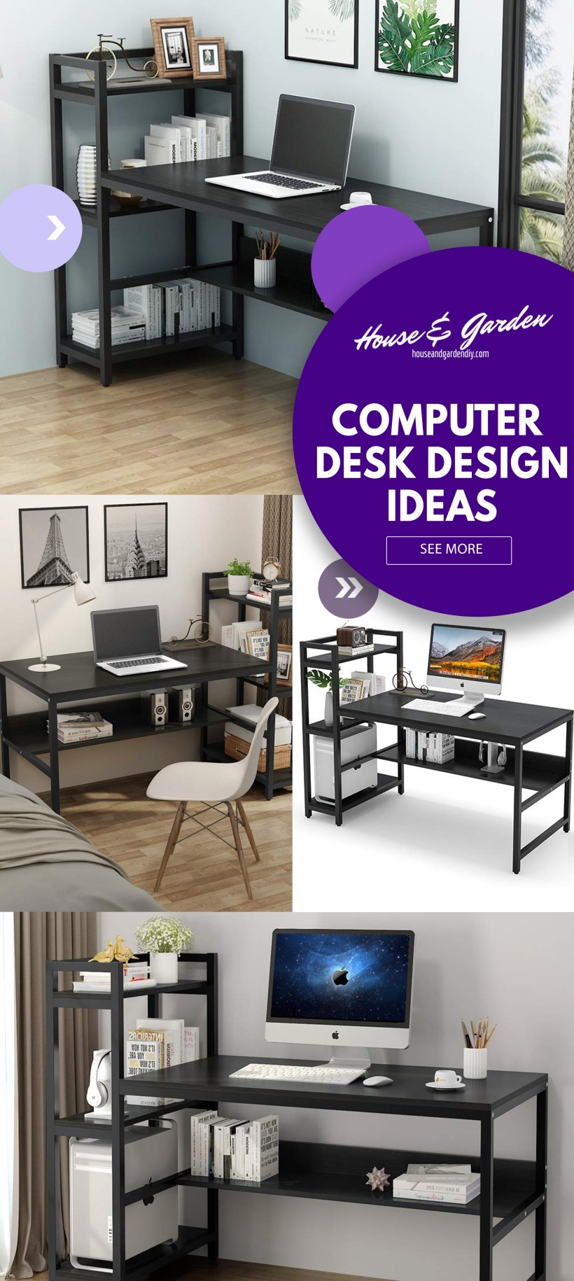floating computer desk