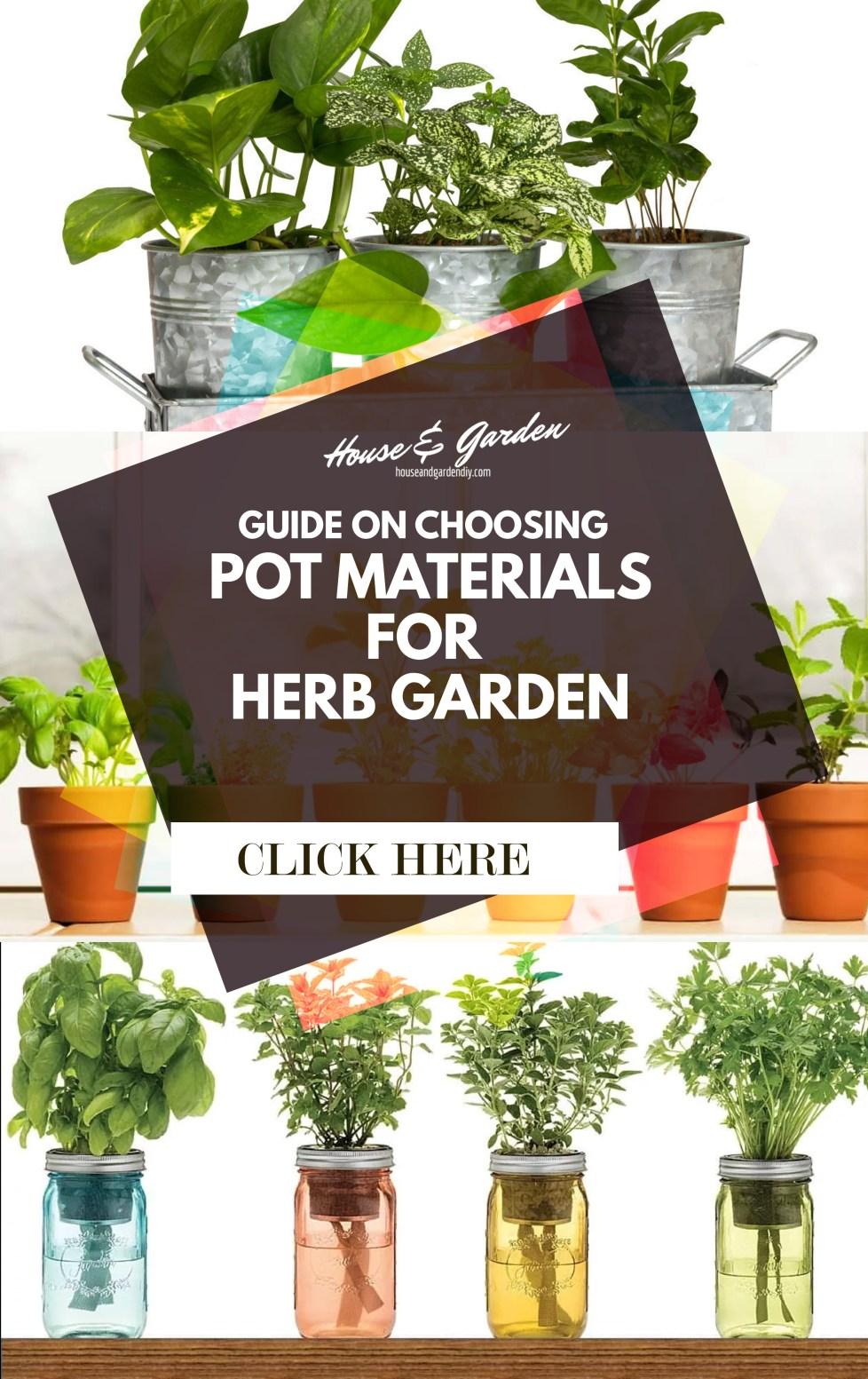Choosing Herb Pot Materials