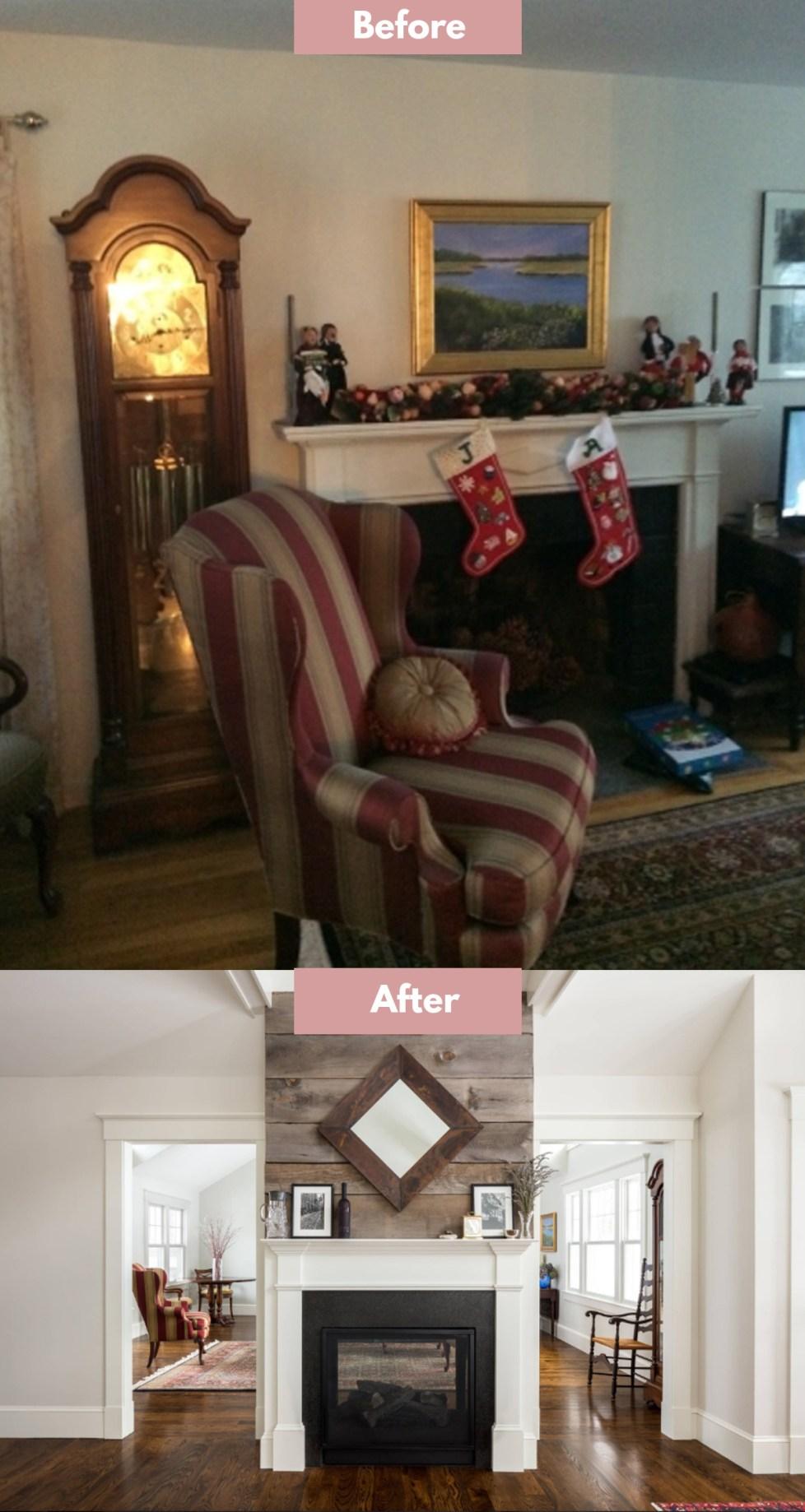 update brick fireplace