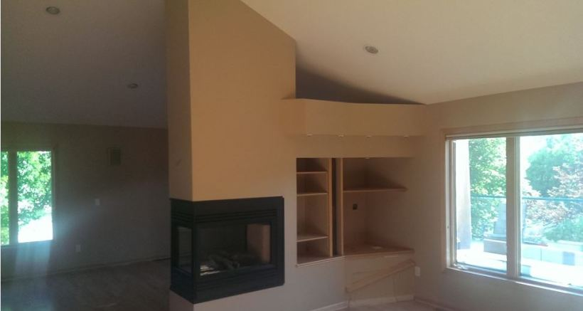 stone fireplace remodel