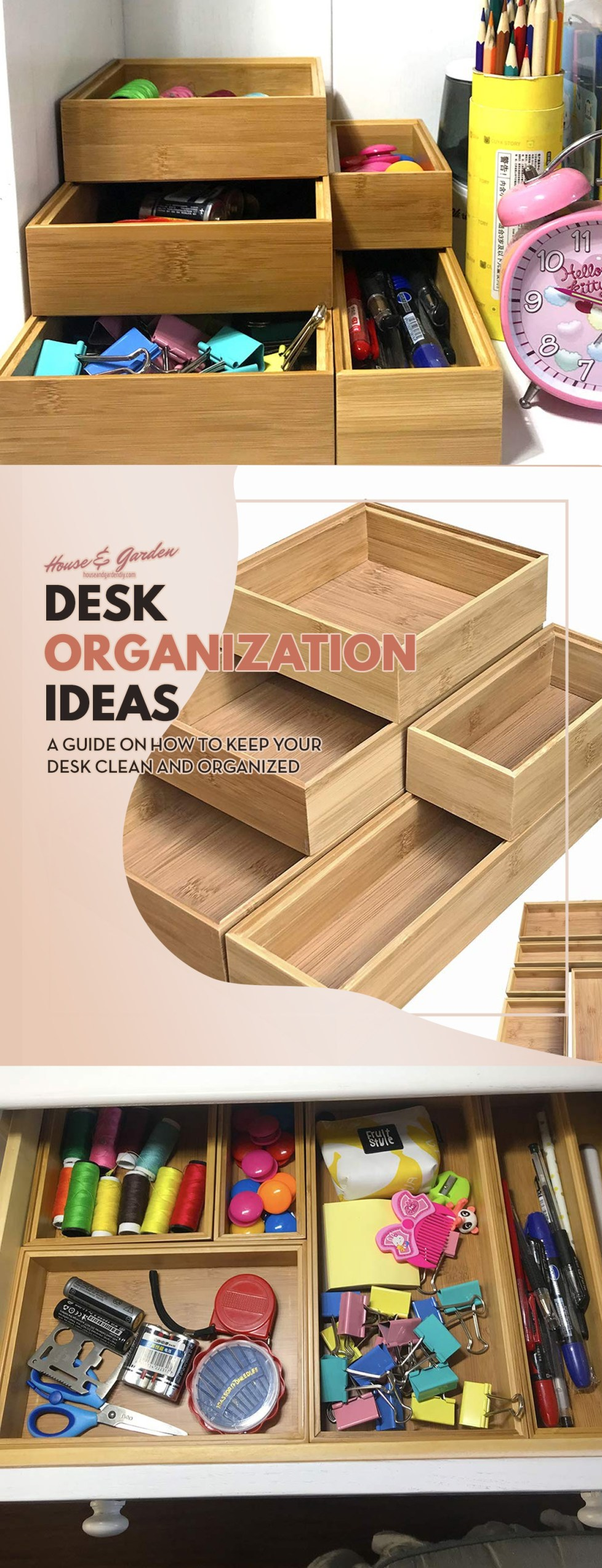 tips to organize your desk