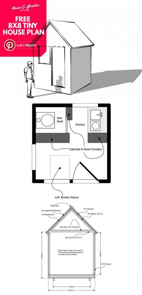 planos de casas pequeñas sobre ruedas