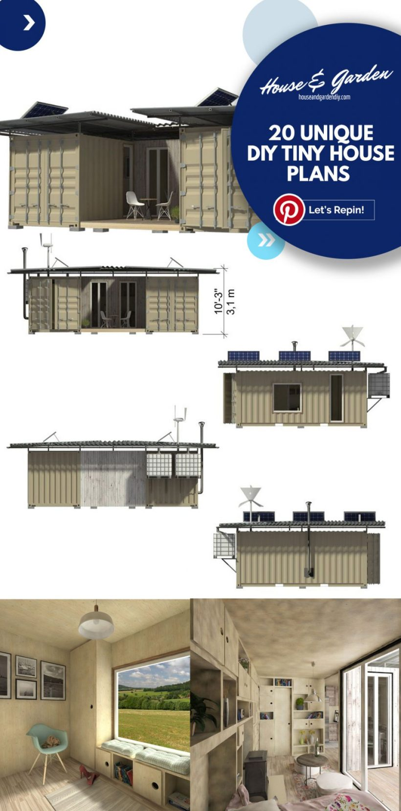 Planos de casas pequeñas de 8x24