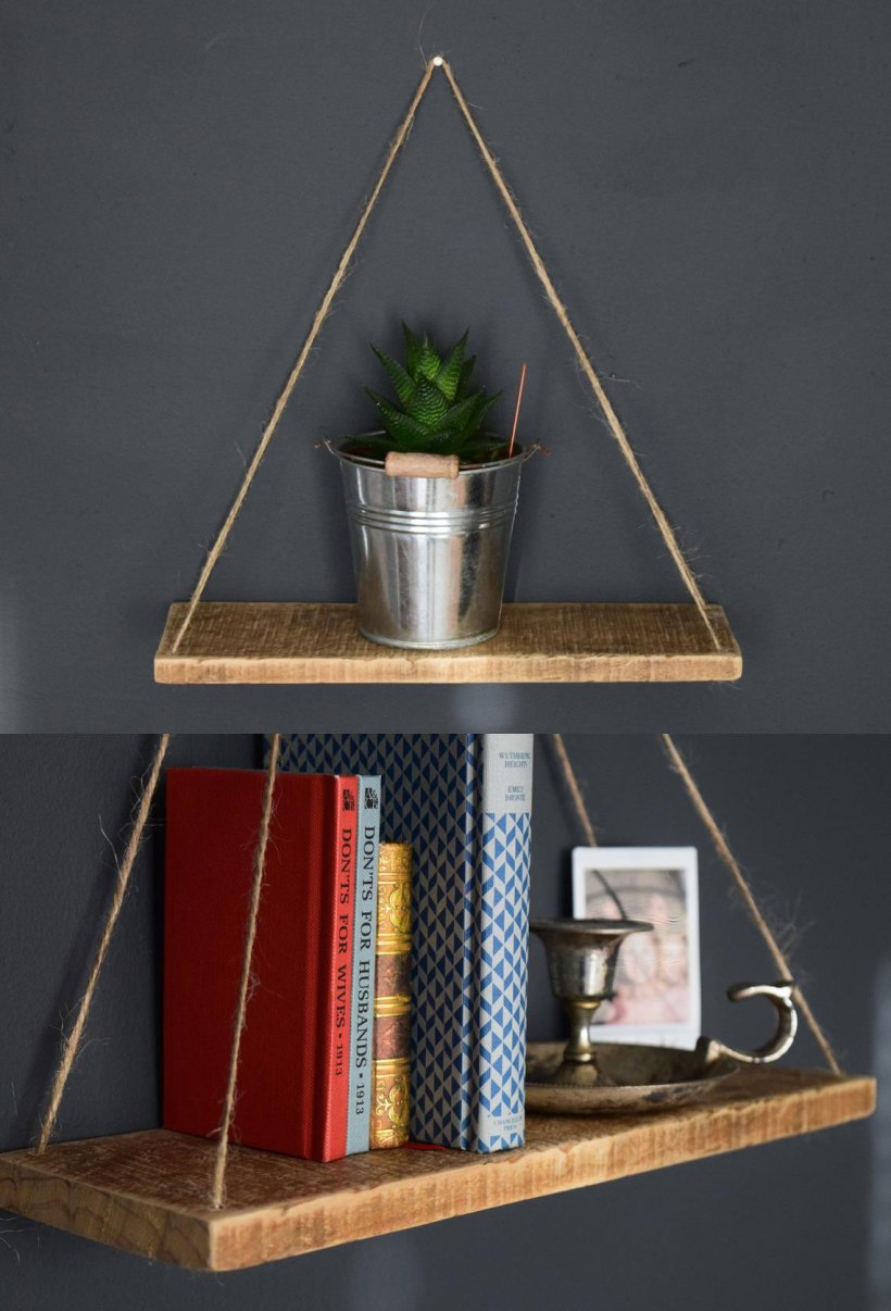 bedroom floating shelf