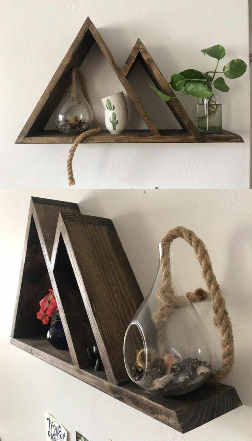 bedroom shelf design