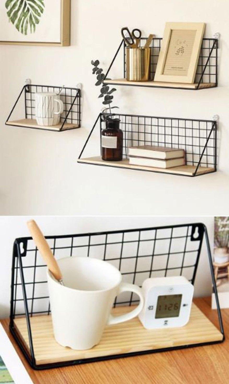 modern bedroom shelf