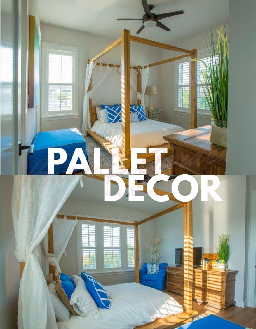 pallet queen bed frame
