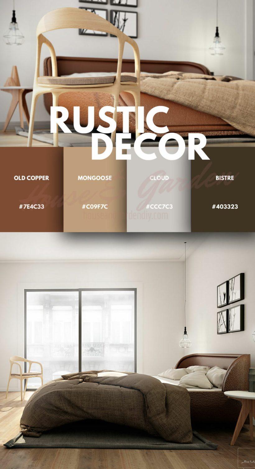 ideas de decoración de dormitorio rústico