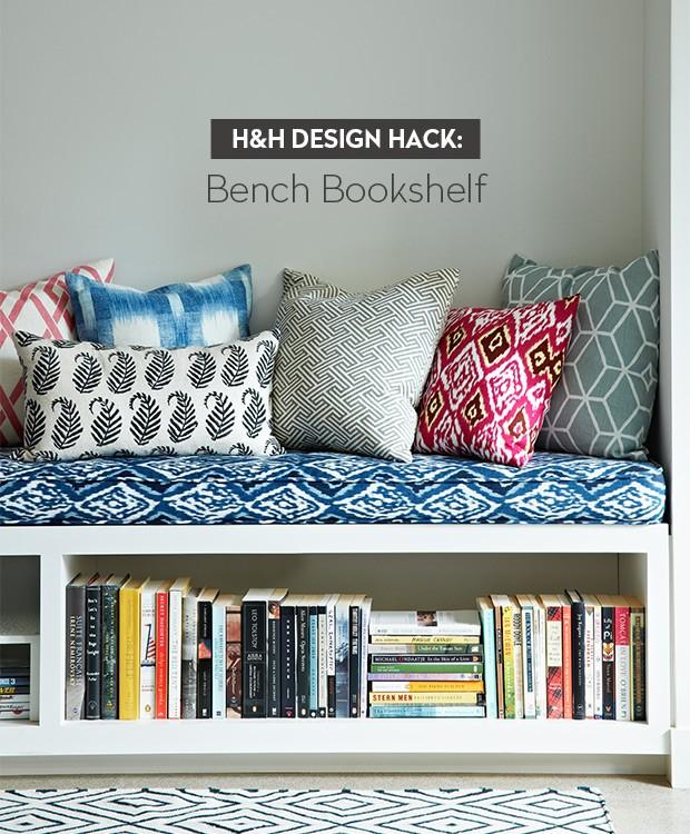 Design Hack Bench Bookshelf