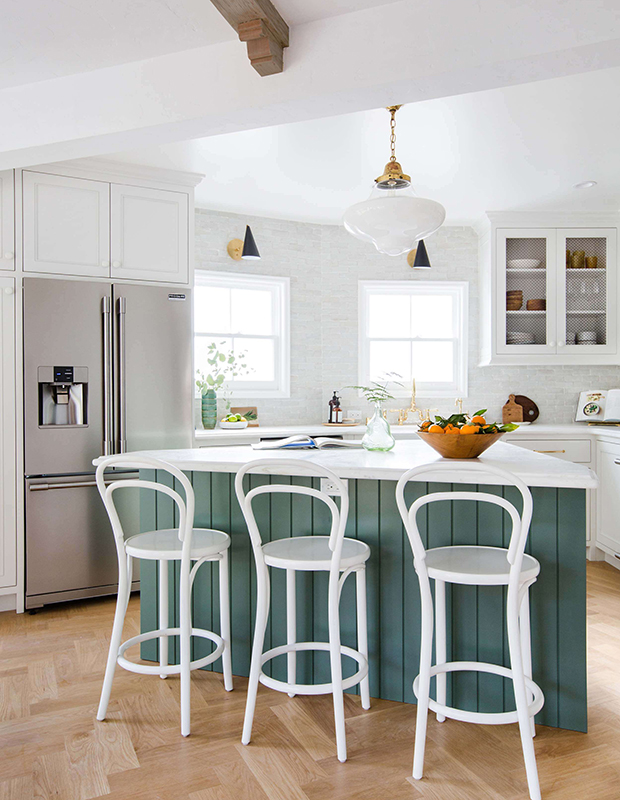 Bored Of White Kitchens Discover The Cabinet Color Trending Now House Home