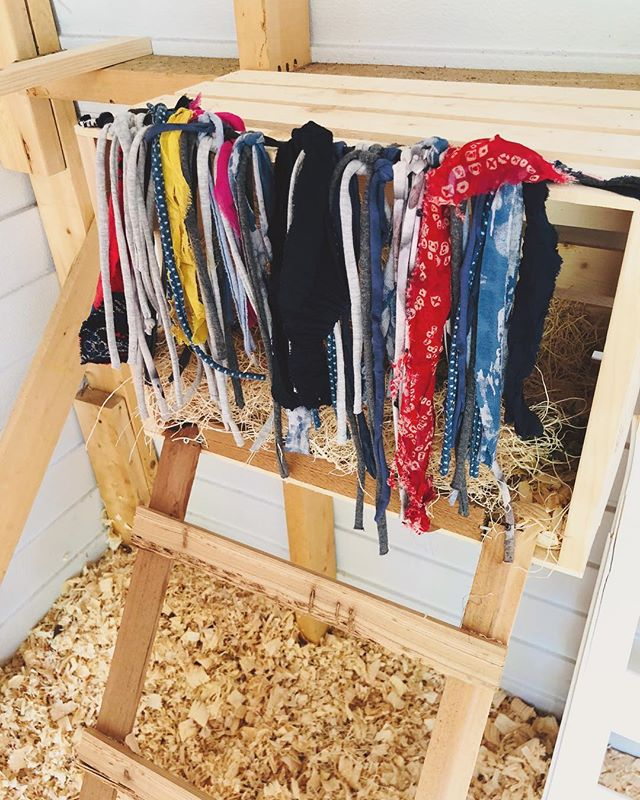 Shredded Fabric Curtains for Chicken Coops