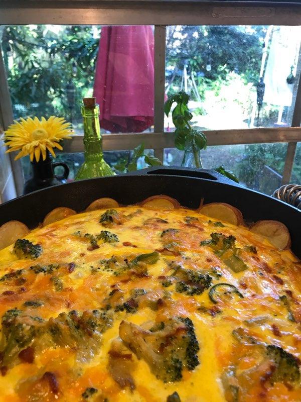 Garden Fresh Breakfast Quiche