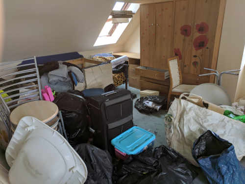 house clearance london - before clearance