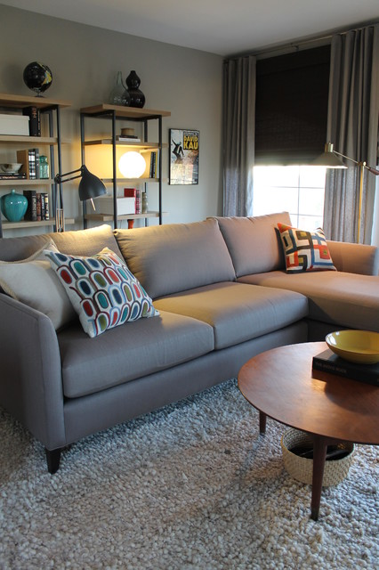 Grey Corner Chaise Sofa