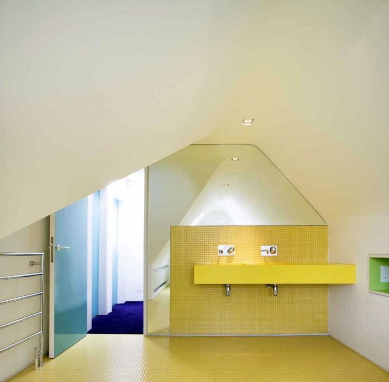 Magnificent Vibrant Interior Design Inside A Brick House HouseBeauty