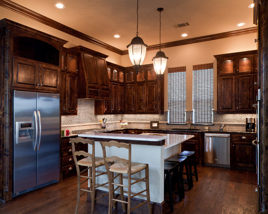 Classy Kitchen Floor Plans With Islands In A Lovely White