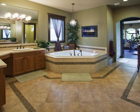 Exquisite Corner Bathtub Designs Symbolizing Bathroom