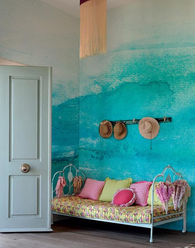 Creative Wall Mural Ideas: Color Gradation for a Good ... on Creative Wall Ideas  id=26104