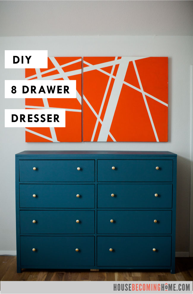 DIY eight drawer dresser modern