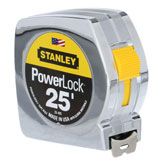 Stanley Power Lock 25' measuring tape