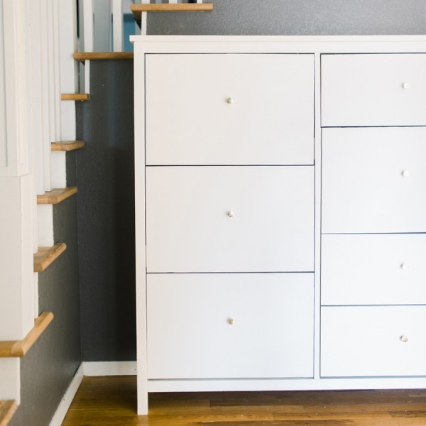 DIY Shoe Cabinet with Seven Drawers