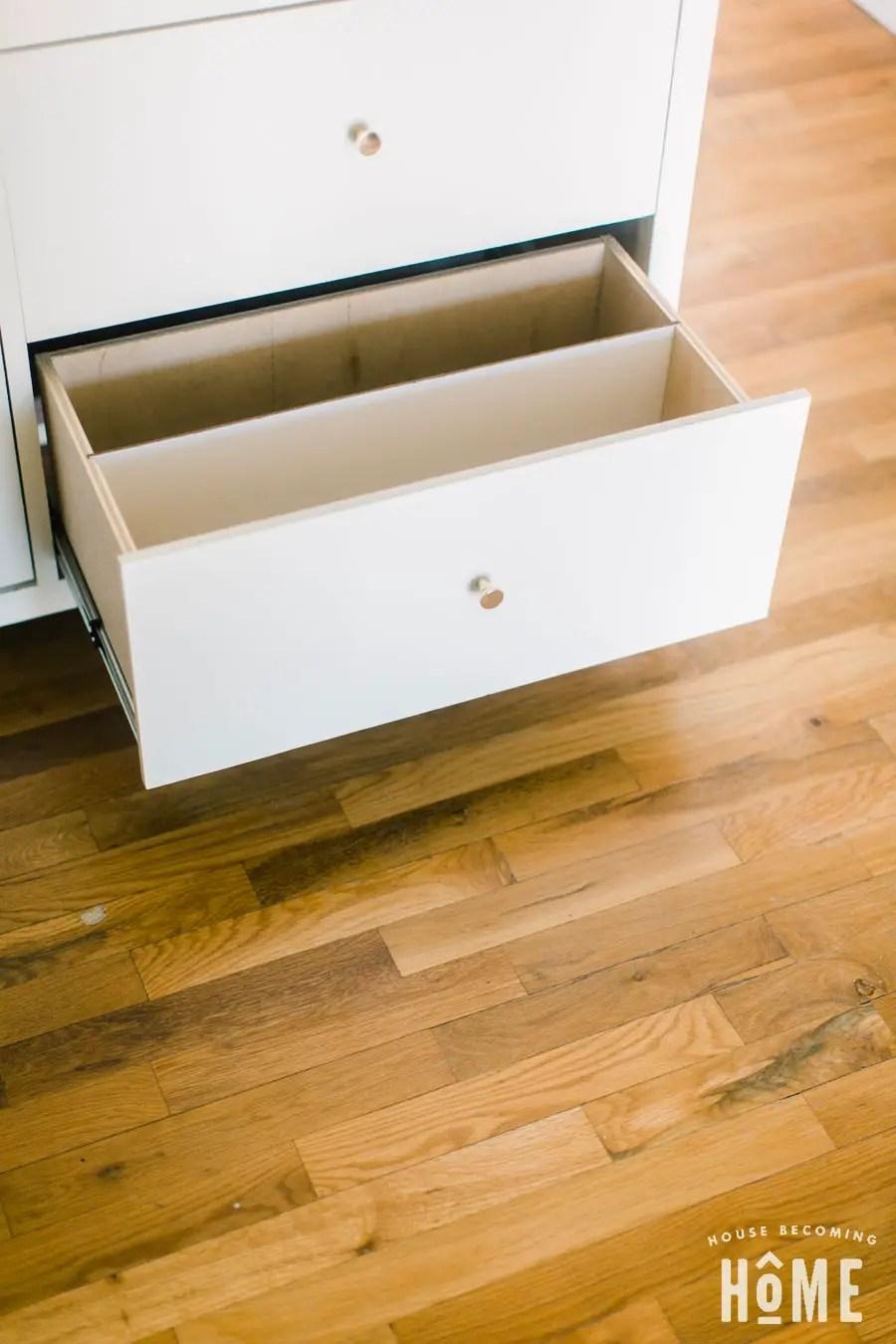 DIY Shoe Cabinet Drawer