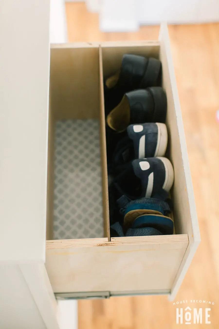 DIY Shoe Cabinet Shoe Divider
