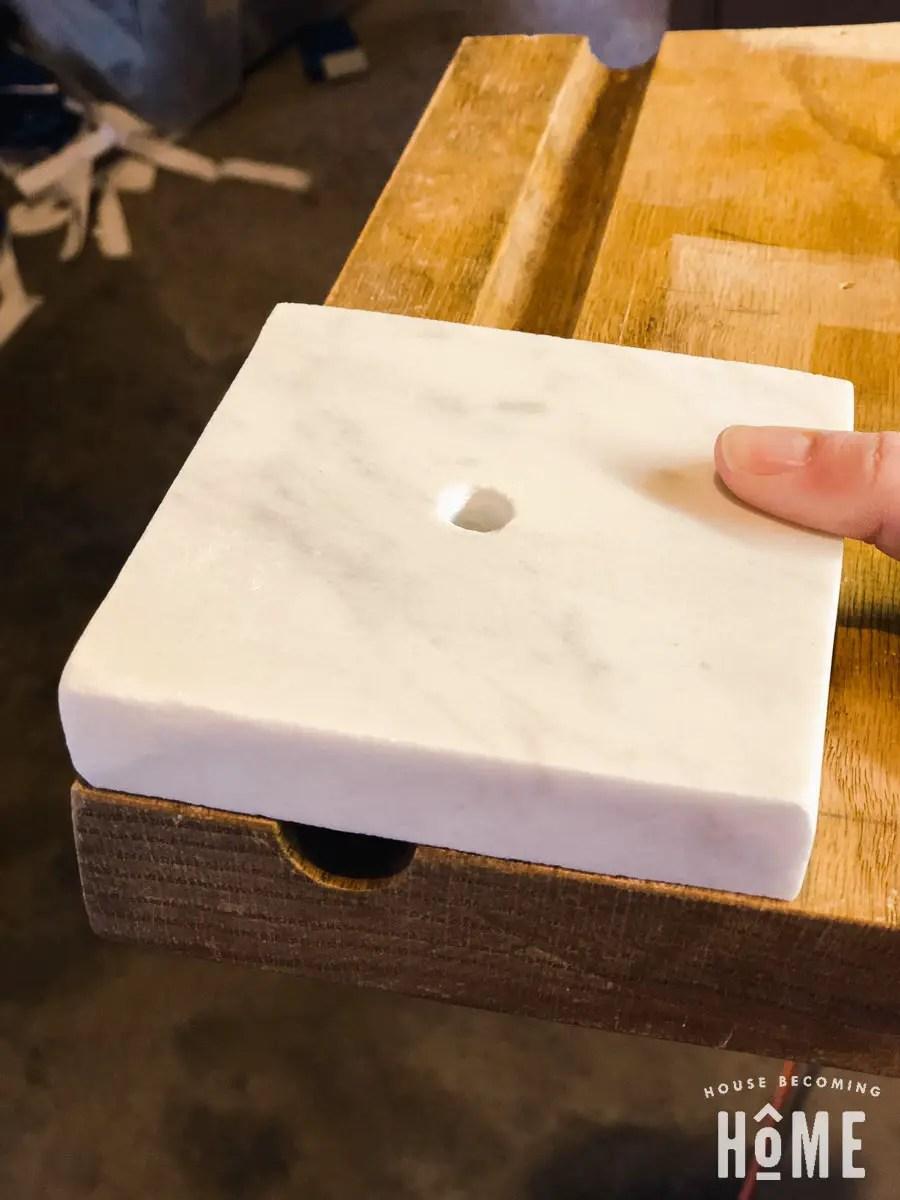 marble light base