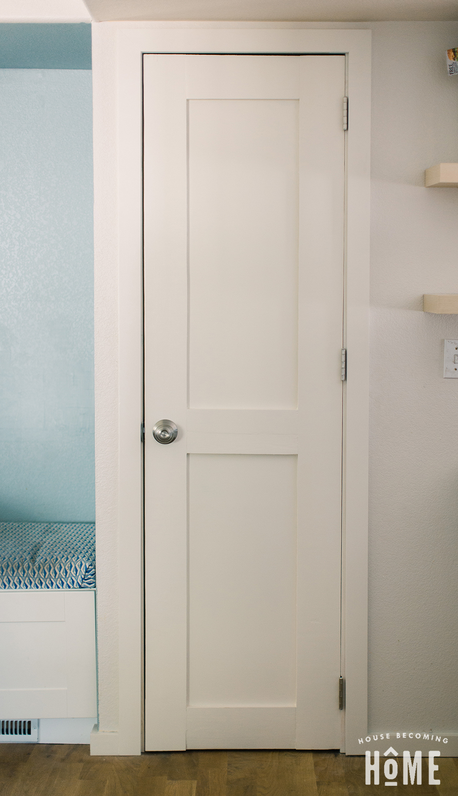 DIY Shaker Style Door Painted White Two Panel