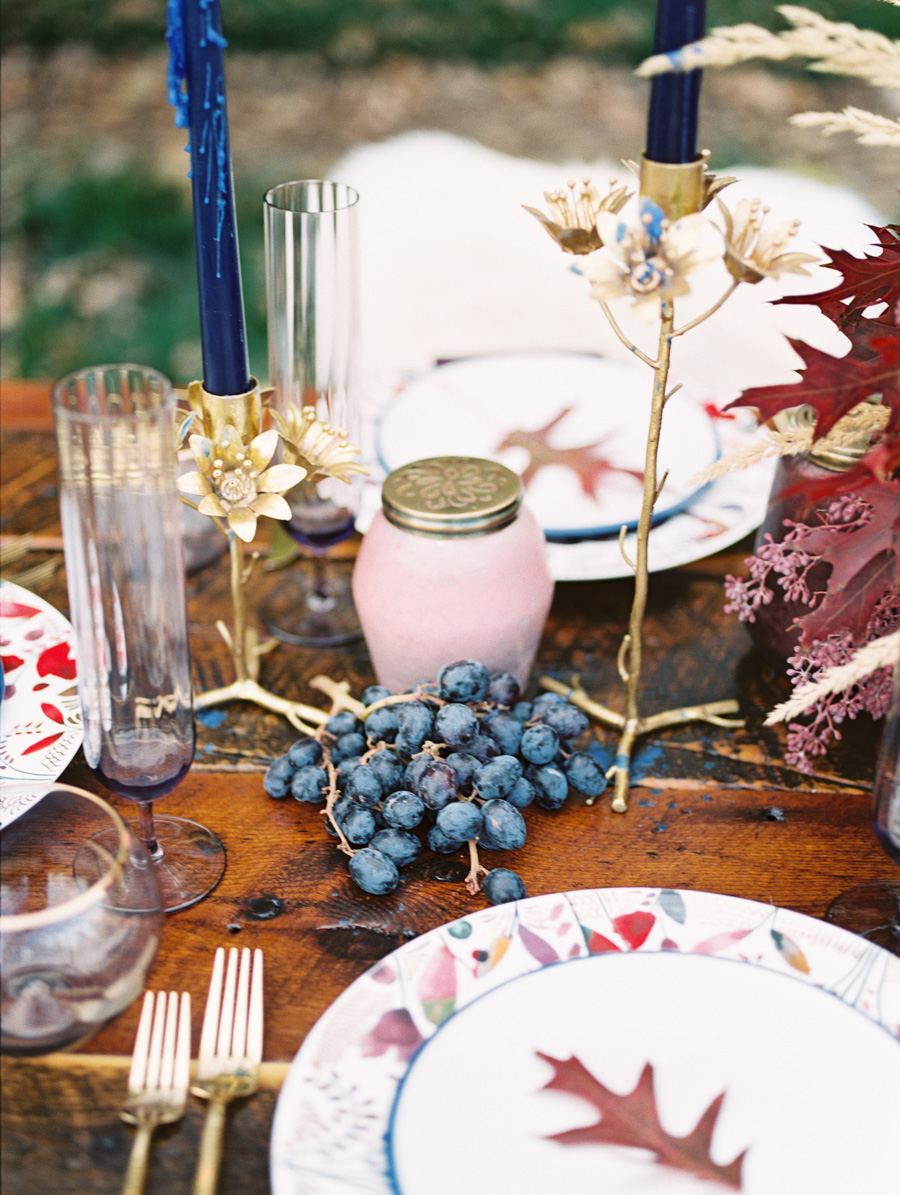 Incorporating Fresh Produce into Thanksgiving Tablescape : photo by Callie Hobbs Photography