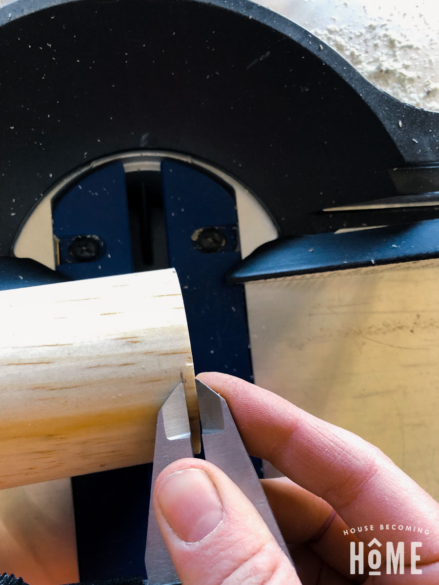 Using Calipers to Mark Cut for start of 11 degree angle