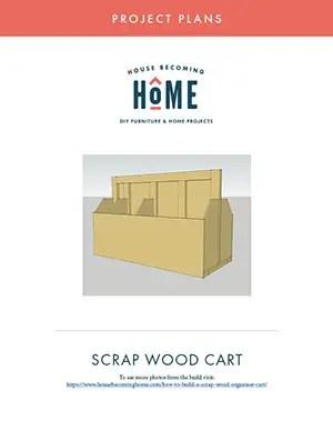 Free Printable PDF Plans for Scrap Wood Organizer Cart