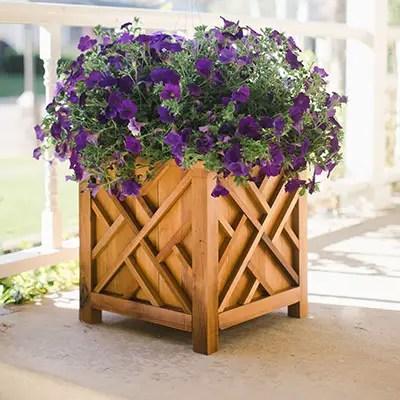 DIY Cedar Chippendale Planter