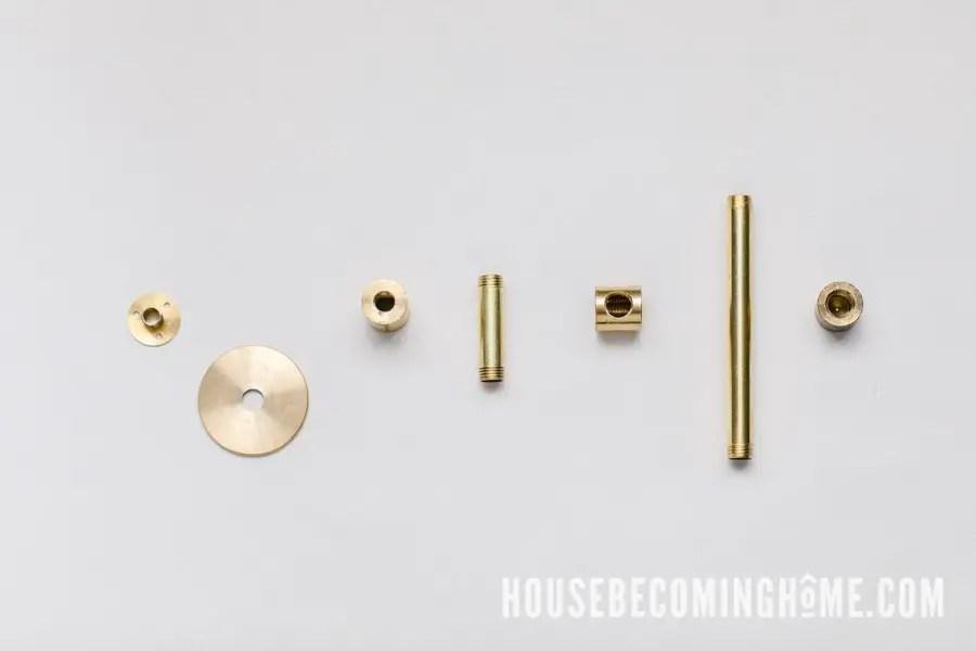 Supplies to Make a Brass Toilet Paper Holder