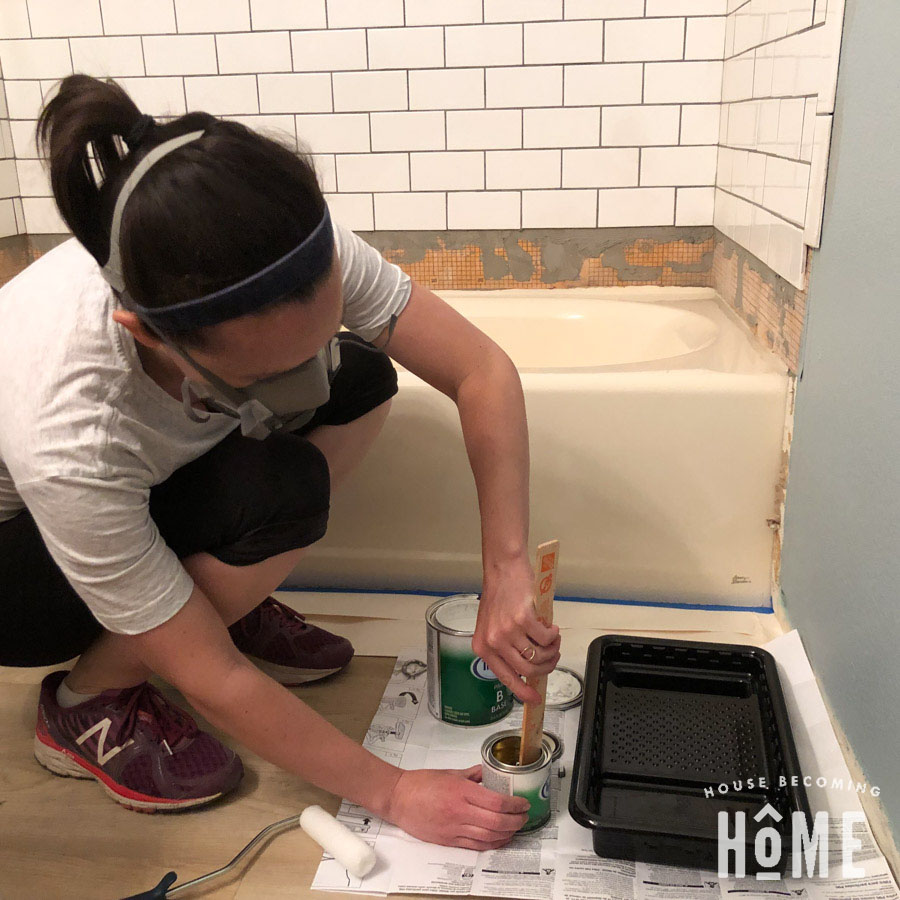 https housebecominghome com how to paint a bathtub rustoleum tub and tile