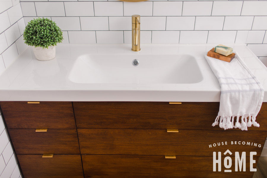 Build A Bathroom Vanity Cabinet for Ikea Odensvik Sink ...