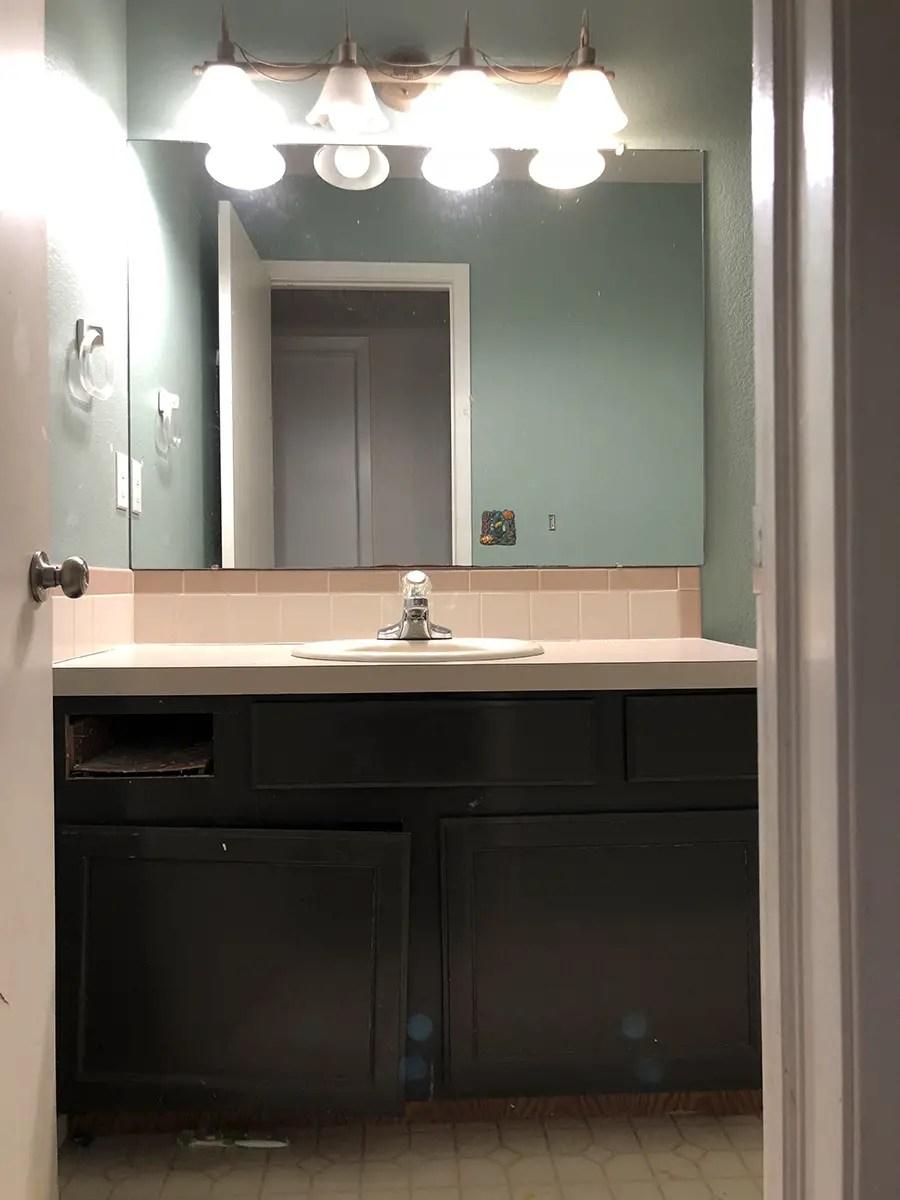 Small Bathroom Renovation Before Shot