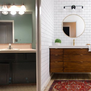 Small Bathroom Renovation Before & After