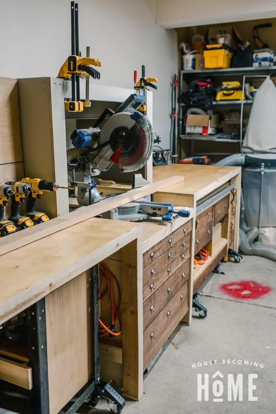 Center Workstation Storage Drawers
