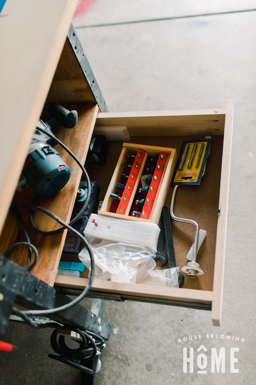 Router Table DIY Storage Drawers