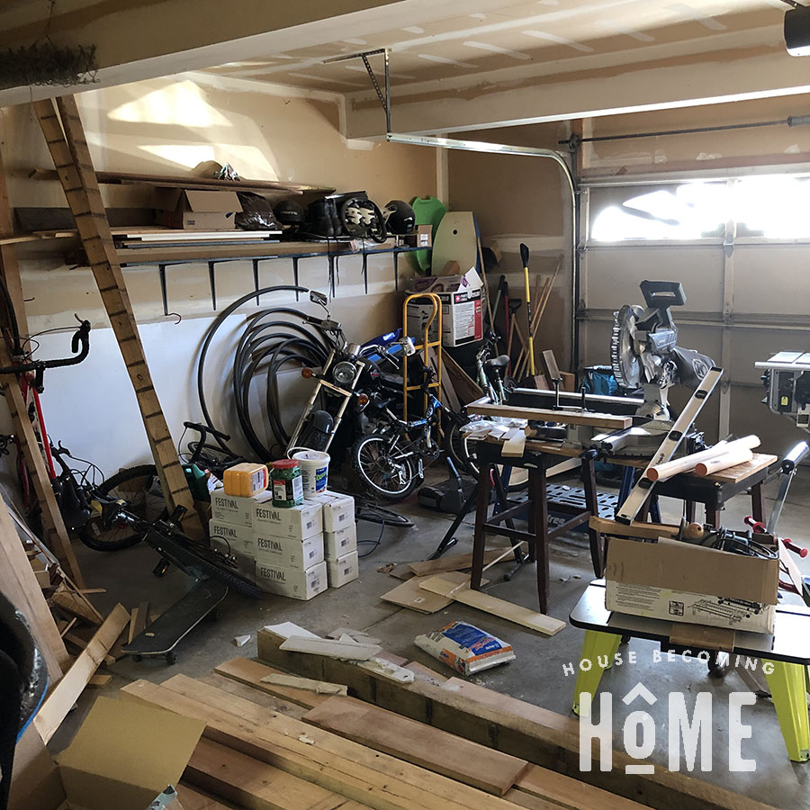 Woodworking Garage Workshop Before Organization