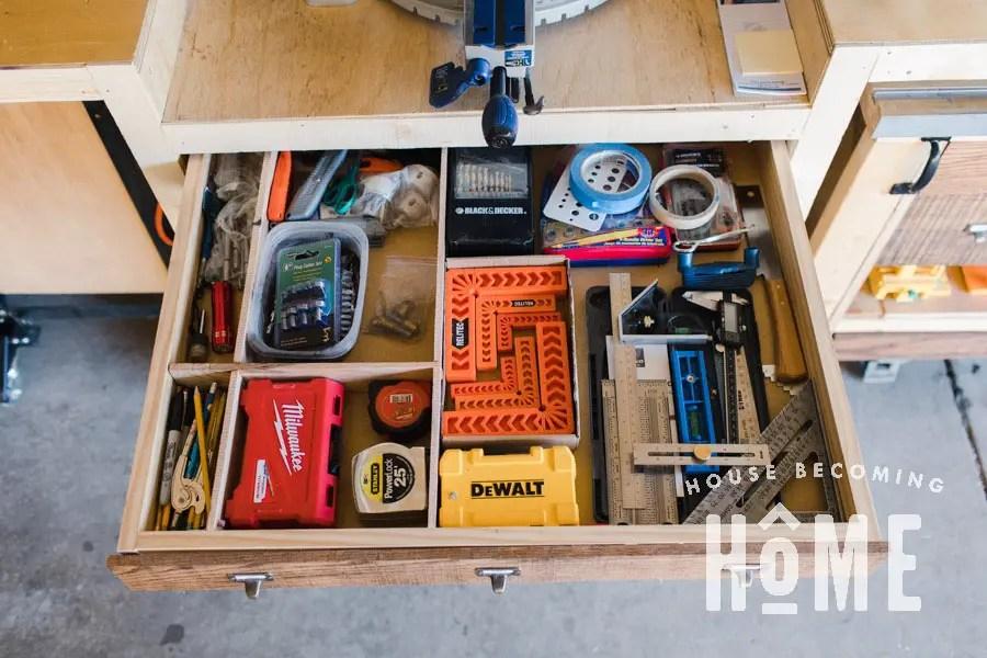 Small Tool Organization Top Drawer