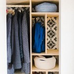 Tame the Chaos of a Small Coat Closet wtih Simple DIY Organizational Compartments